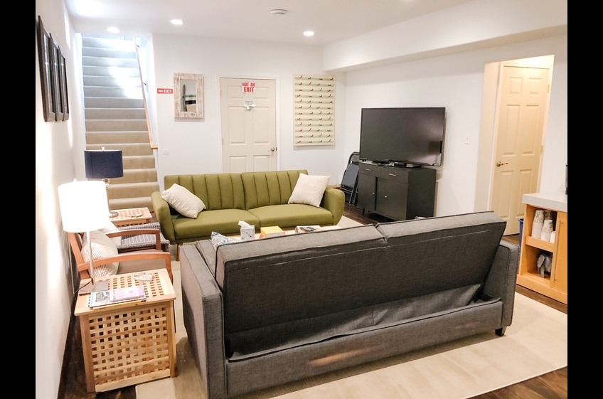 Lower Level Living Rec Room angle